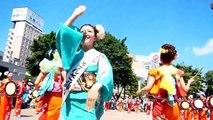 2014盛岡さんさ踊り ミスさんさ ミス太鼓連 盛岡駅 滝の広場