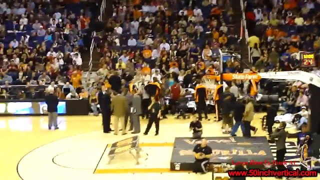 Crazy Guy dunks himself through Basketball Hoop, Phoenix Suns Gorilla (Original) Boy gets dunked