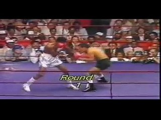 Tommy -hit man-Hearns/ Pipino Cueves boxing match August, 80