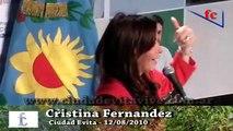 Cristina Fernandez en Ciudad Evita