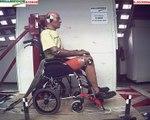 Ultra Lightweight Wheelchair Ergo Lite/Ergo Flight S-2501 ISO 7176/19 Wheelchair Dynamic Crash Test