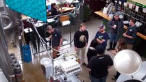 The SHRM Beer Club brewing their own beer at Mother Road Brewing Co.
