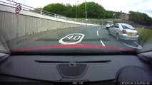 Woman struggles with road signs and lane discipline FAIL #tool #dickette