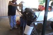 Mercury 15 HP Outboard Test
