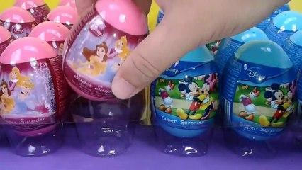 24 Disney Surprise Eggs Unboxing PRINCESS and MICKEY MOUSE PLUTO