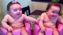 Funny Baby Video Twin babies laughing  crying  and then laughing again - Funny Baby Videos