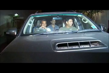 Yuvraj Singh and Zaheer Khan spotted at the special screening of Anushka Sharma's movie NH10