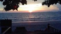 Sunset timelapse Lanta Paradise Beach Resort Koh Lanta Thailand 720p