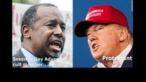 Donald Trump, Ben Carson trade attacks over religion. Dark secret Seventh-Day Adventist