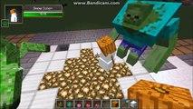 Mutant Zombie VS Mutant Creeper - Minecraft Mob Battles