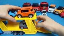Ou robot transporteur de voitures publier une conduite d'un véhicule de transport ou un robot voitures de transport pour le casting. Tobot Transporteur de Voiture de jouet