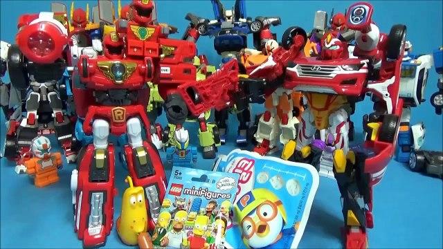 Bonjour la voiture robot ou robot R carte de robot Santa Fe Lac q transformation vidéo LEGO Simpsons mini. un nouveau type de lave? Frank pororo les enfants de la Famille Parc TOBOT R CARBOT Pororo Tayo Larve