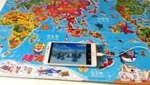 Pororo world map 뽀롱뽀롱 뽀로로 세계지도 ポロロの世界地図 Travel around the world with Pororo♡ TOYBELL 귀여운 뽀로로 장난감 놀이
