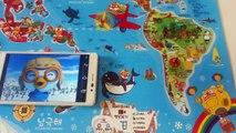 Pororo world map 뽀롱뽀롱 뽀로로 세계지도 ポロロの世界地図 Travel around the world with Pororo♡ TOYBELL 뽀로로 어린이 장난감 놀이