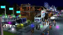 RCT3 Giant Fairground - Fun fair rides (including Cars the ride & Alpengeist POVs) HD