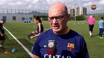 Futbol femení FCB: Roda de premsa Xavi Llorens