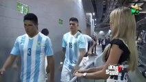 Lionel Messi ignora a la bella periodista Inés Sainz | Mexico vs Argentina 2-2 Partido Ami
