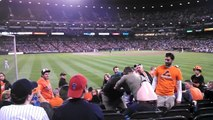 Baseball fight. Tennis Orioles and Yankees hooligans fight