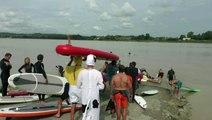 La vague du Mascaret au port de Saint Pardon - Vayres (33)