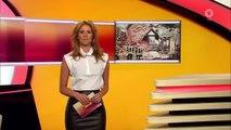 Mareile Höppner - Brisant HD - 14.07.2015 - Black tight Leather Skirt, White Blouse & Black Heels