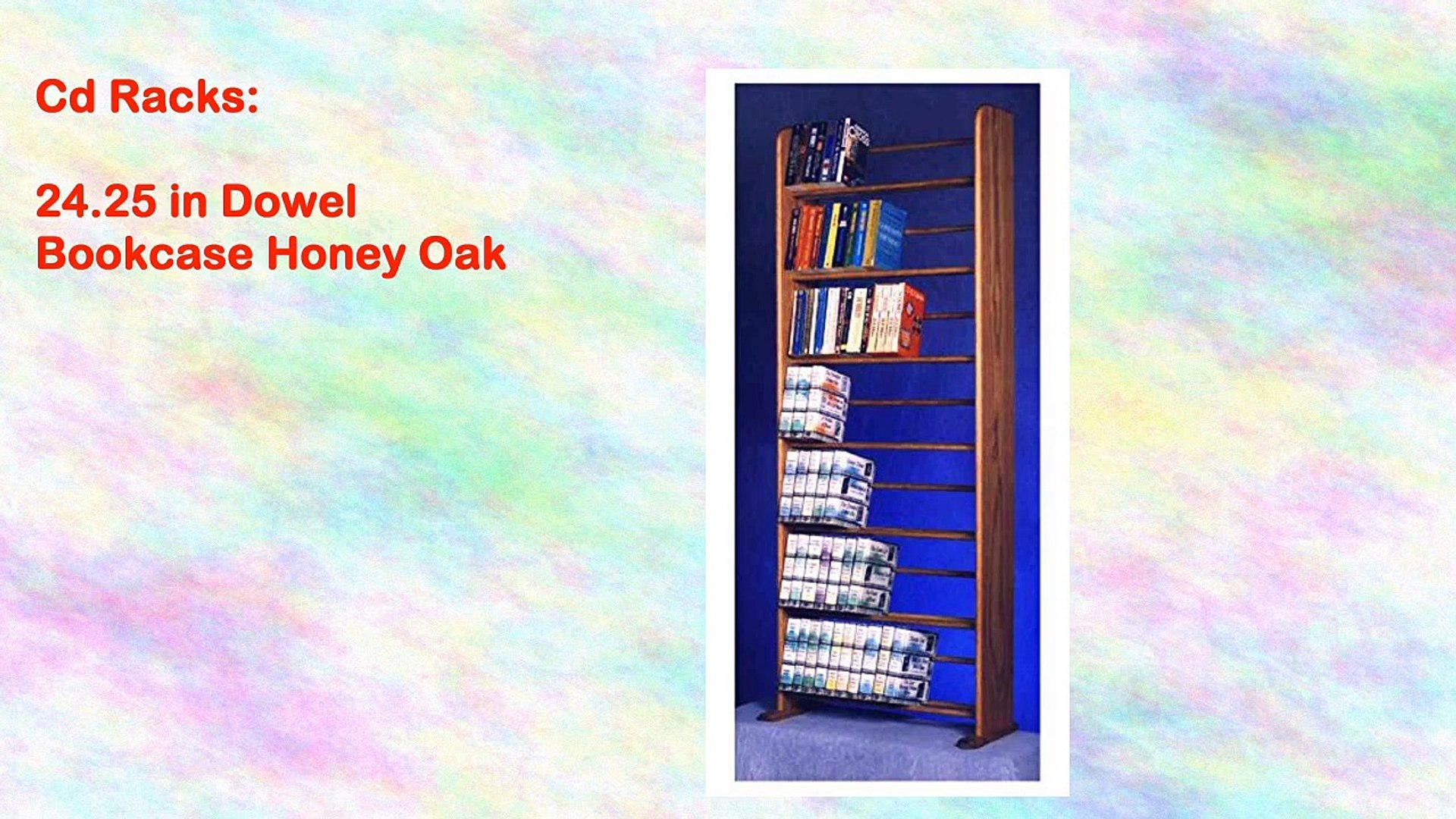 24 25 In Dowel Bookcase Honey Oak
