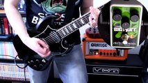 EHX Nano Bass Big Muff on Guitar (Gibson SG + Orange OR15) [Stoner/Doom Tones]