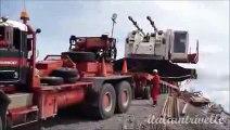 Huge Crane Accident   Transport 100 tons crane gone wrong falling down hill destroying a crane