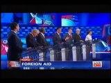 Ron Paul owns Mitt Romney on foreign aid @ CNN Las Vegas Debate 2011