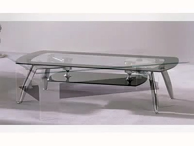Coffee Tables For Sale, Clear Glass Coffee Tables With Undershelf