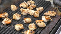 London Street Food. Grilled Scallops with Soy and Lemon. Tried in Borough Market