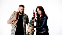 The Muppets Promo Katie Lowes and Guillermo Diaz About to Put A Drill on Gonzo