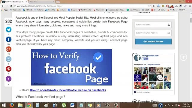 Verify Your Facebook Account In 5 Min   How To