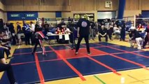 Young British kickboxing champion in the final of ICO British championships