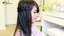 Knotted Loop Waterfall Braid Hairstyle - Hair Tutorial
