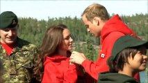 William and Kate - Canoeing in Canada