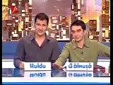 Dani se lovește cu tigaia în față - Razvan și Dani la Național TV