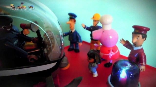 Fireman Sam Go Splash!! New Peppa Pig and Postman Pat Episode with Toys. 2015