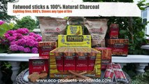 Fatwood Firelighters Demo from Eco Products Worldwide Ltd