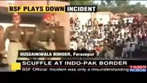 Fight At Wagah Border Between Pakistani Solider and Indian Army Solider. LoL India