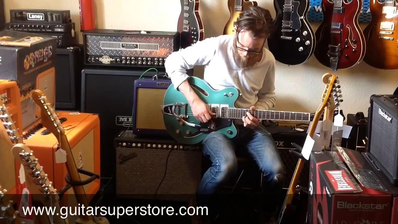 Gretsch G5622T CB Electromatic Center Block Guitar & Fender Hot Rod Pro Junior