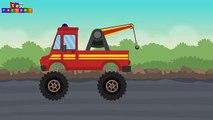 Tow Truck and Repairs - Tow trucks for children - Monster trucks for children