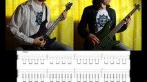 7) Rammstein - Rosenrot (Guitar & Bass lesson + TABs | Cover HD)