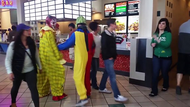 Clowns Fighting in Public Prank (Surprise Ending!!)