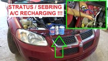 Dodge Stratus A/C System recharging. How to recharge the Air Conditioner on a Dodge Stratus!