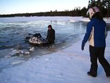 INCREDIBLE FAILED SNOWMOBILE WATER CROSSING AND SUBSEQUENT FAILED RESCUE AFTERMATH