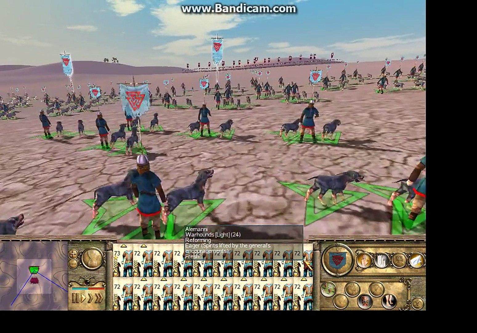 Rome Total War Barbarian Invasion-Massive Battle 14000 War dogs vs 14000 War dogs