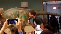 John Barrowman Plays with Dinosaur Long Beach Comic-Con 2015 Torchwood Arrow