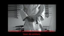 Comment nouer sa ceinture ? - Aikido, Judo, Karate - technique double noeud plat