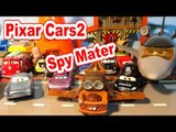 Pixar Cars2 with Spy Mater and Lightning McQueen, and Screamin' Banshee