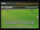 São Paulo 2x0 Nacional-URU  - Libertadores da América 1992 - 2a partida